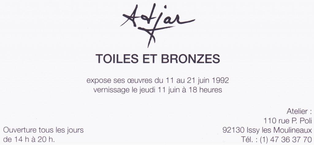 Toiles et Bronzes